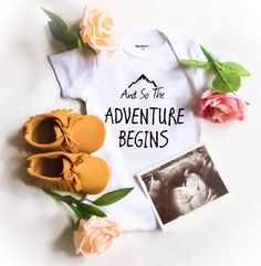 Perfect ways to announce pregnancy, birth announcement and baby shower gifts!