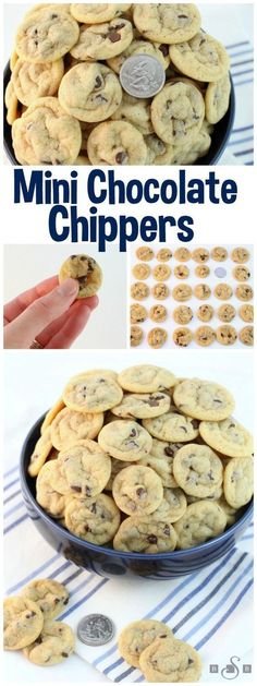Mini Chocolate Chippers - Teeny Tiny Chocolate Chip Cookies Recipe via Butter With a Side of Bread