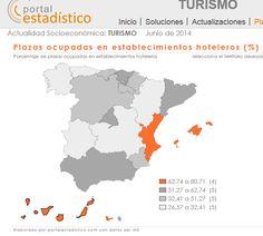 Canarias se sitúa a la cabeza de la ocupación hotelera en junio, el 69,1%. Le sique la Comunidad Valenciana