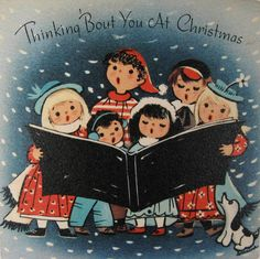 Thinking 'bout you at Christmas. #vintage #Christmas #cards