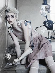 deprincessed: Audrey Marnay all dolled up in 'Mechanical Dolls' shot by Tim Walker for Vogue Italia October 2011