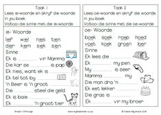 Klankbou VB9 1st Grade Worksheets, Kindergarten Worksheets, Afrikaans Language, Think Before You Speak, Teachers Aide, Learning Support, Classroom Rules, High School Students, Kids Education