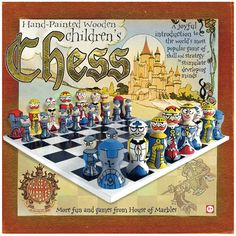 Hand-Painted Chess Set