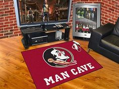 "Florida State Man Cave All-Star Mat 33.75""x42.5"""