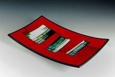 """Arc #2 Kiln formed and cold worked glass with enamel 10"""" x 16"""" x 1.5"""" 2008 - morgan madison"""