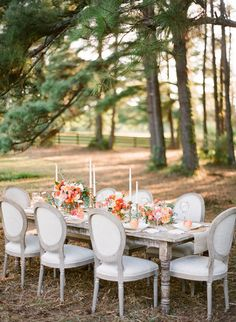 Louis XVI Style Chair - This French Neoclassical design is distinguished by an oval back and is typically upholstered in a natural linen or a colorful velvet. It's a must for a vintage style wedding held at a historic mansion or an elegant estate! {Photo Courtesy of Jade Lee Events} Follow @weddingwire for more inspiration!