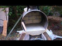 Barrel wood pizza oven - YouTube Portable Pizza Oven, Pizza Oven Outdoor, Outdoor Cooking, Wood Oven, Wood Fired Oven, Wood Fired Pizza, Barbecue Four A Pizza, Bbq, Wood Pizza