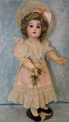 Antique 28 Inch Size 13 French Tete Jumeau Bebe Doll C/M Straight Wrists c.1890 in  | eBay!