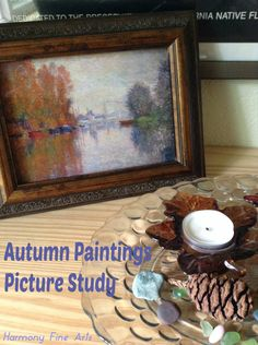 Autumn Paintings Picture Study- autumn themed paintings for your family to view and talk about...plus ideas for learning more about picture study.