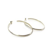 Nicole Landaw 14 White gold diamond pave slip hoops