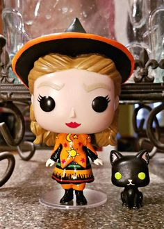 This is a custom Funko Pop Vinyl set of the Hocus Pocus Sanderson Sisters, Winifred, Sarah, and Mary. Also available is the set of 4 which will include Dani w/Binx These are hand sculpted on and painted with love so each set will be slightly different from the rest. I have always