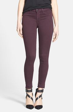 Free shipping and returns on J Brand '485' Skinny Jeans (Dark Plum) at Nordstrom.com. A pair of supersoft figure-contouring skinny jeans is rinsed in a beautiful plum wash perfect for adding a hint of color to your look.