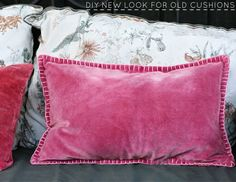 Build House Home: diy blanket stitch detail for cushions