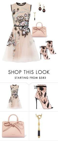 """""""cute"""" by skatiemae ❤ liked on Polyvore featuring Elie Saab, Giuseppe Zanotti, Mansur Gavriel and Chaumet"""