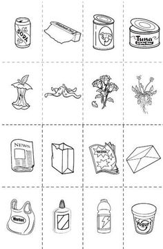 szelektív hulladék 2 Planets Preschool, Preschool Games, Craft Activities For Kids, Earth Day Coloring Pages, Colouring Pages, Recycling Games, Kids Travel Journal, Butterfly Room, Kindergarten Worksheets