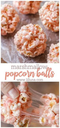 These Easy Popcorn Balls are so sticky and tasty, everyone will love them! They're perfect for any party, holiday or get together and are so simple! Marshmallow Popcorn, Popcorn Cake, Popcorn Snacks, Gourmet Popcorn, Kid Snacks, Flavored Popcorn, Sweet Popcorn Recipes, Homemade Popcorn Recipes, Gluten Free Puff Pastry
