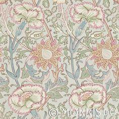 Morris & Co Tapet Pink & Rose Eggshell/Rose
