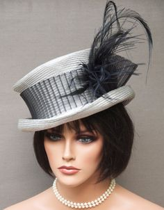 Kentucky Derby Hat Victorian English Riding Hat by AwardDesign