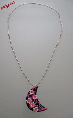 Collana con ciondolo mezza luna decorata, by Magicla, 4,00 € su misshobby.com
