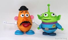 3D paper quilling Toy Story characters Mr Potato Head and Alien