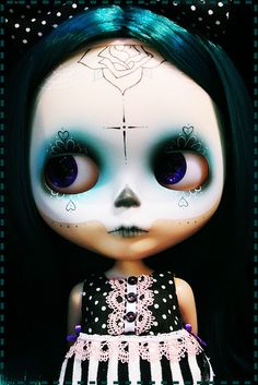 Day of the Dead Blythe doll