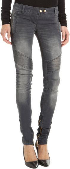 Balmain Moto Jeans
