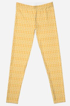 'Yellow Swirl Pattern Clothing' Leggings by Fabric Patterns, Clothing Patterns, Swirl Pattern, Best Leggings, Selling Online, Printed Leggings, Artwork Prints, Sell Your Art, Floor Pillows