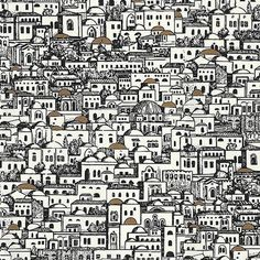 Wouldn't this be cool wallpaper for a guest bathroom?