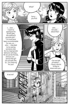 Miraculous Ladybug Fan comic ^^ Chapter 1: A city of Lies: Pg 1 Pg 2 Pg 3 Pg 4 Pg 5 Pg 6 Pg 7 Pg 8 Pg 9 Chapter 2: Complicated Love: Pg 1 Pg 2 Pg 3 Pg 4 Pg 5 Pg 6 Pg 7 Pg 8 Pg 9 Pg 10 Pg 11 Chapter 3: The Truth: Pg 1 Pg 2 Pg 3 (updates every Monday...