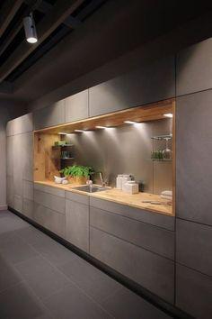 40 Inspiring Modern Luxury Kitchen Design Ideas - Modul Home Design Kitchen Ikea, Farmhouse Kitchen Cabinets, Modern Kitchen Cabinets, Kitchen Cabinet Design, Kitchen Layout, Home Decor Kitchen, Cabinet Decor, Kitchen Modern, Space Kitchen