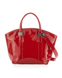 Gerdy Patent Tote, Red by Charles Jourdan at Last Call by Neiman Marcus.