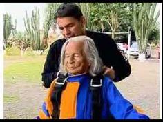 Vovó brasileira de 103 anos salta de paraquedas e quebra recorde mundial - YouTube - movimento - exercício - exercise - atividade física - corpo - body - beleza - estética - belo - beautiful - esporte - sport