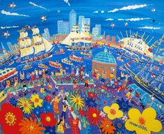 John Dyer Paints the Tall Ships in London - Falmouth & Royal Greenwich Tall Ships Regatta 2014 Arts Project with Artist in Residence John Dyer