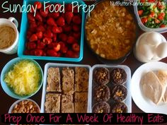 Ideas of how to prepare for a week to stay on track and eat healthy