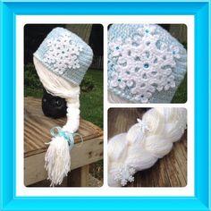 Frozen Inspired Hat - Crochet creation by Alana