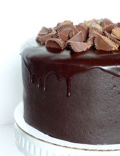 Peanut Butter and Chocolate Cake with Reeses