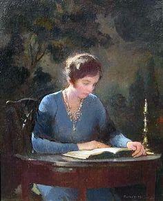 Mary Reading by artist Edmund Charles Tarbell