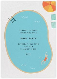Such an awesome idea for an invitation. Simple and so well done!