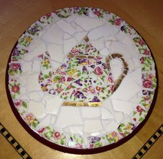 Mosaic teapot trivet for my sister Carole