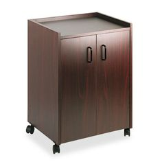 Safco Mobile Refreshment Center, One-Shelf, x x Mahogany at Lowe's. Compact, yet offers ample storage for your day-to-day break room supplies and meeting spaces. Cabinet moves easily on four casters (two locking). Rolling Kitchen Island, Kitchen Island Cart, Kitchen Island With Seating, Kitchen Islands, Storage Shelves, Locker Storage, Shelf, Butcher Block Kitchen Cart, Double Door Design