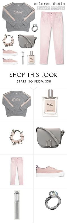 """""""Pink Jeans"""" by deepwinter ❤ liked on Polyvore featuring Chloé, philosophy, Gemma Redux, 3.1 Phillip Lim, Eytys, Morgan Lane and Chen Fuchs Jewelry"""