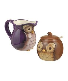 A sugar bowl please! Doesn't have to be these just thought they were cute. Anything basic or adorable. Doesn't really matter to me =)