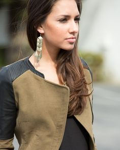 Those earrings  Where can I find this jacket?