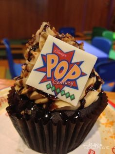 Pop Century Resort Review King Bacon Cupcake - all my fave things in one cupcake - peanut butter, banana, bacon, chocolate!