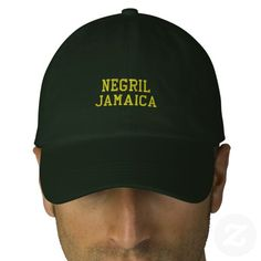 #custom #Jamaican Themed #gifts #embroideredhat #coolnegril -  Negril Jamaica Embroidered Hat