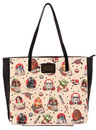 Back In Stock - Star Wars Retro Tattoos Tote Bag by Loungefly Handbags