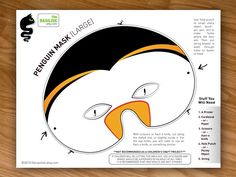 Penguin Party Mask Halloween Mask Costume Mask by theRasilisk, $3.99