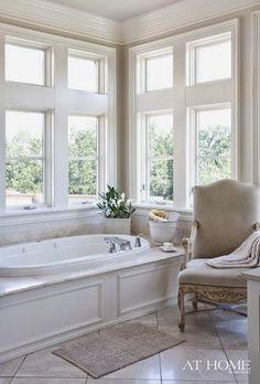 Bathroom:Luxury Bathtub Vintage Armchair Master Bathroom Designs Calm And Beautiful Neutral Bathroom Interior Design Neutral Bathroom Interior, Neutral Bathrooms Designs, Bathroom Designs, Bathroom Spa, White Bathroom, Small Bathroom, Master Bathroom, Bathroom Ideas, Bathroom Goals