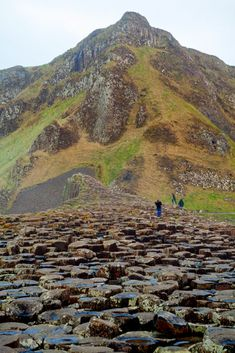 Giant's Causeway is a huge deposit of columnar basalt found in County Antrim near the tip of Northern Ireland. The predominantly hexagonal-shaped columns were formed some 50 million years ago by cooling lava.  Photo John Franzel