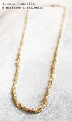 Tassia Canellis braided chains necklace #tassiacanellis #braidedchain #tressé #collier #necklace #doré #golden #laiton #brass #chaine #bijoux #jewellery